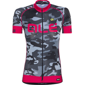 Alé Cycling Graphics PRR Camo SS Jersey Women black-strawberry
